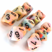 Circus & Black Festive D10 Ten Sided Dice Set